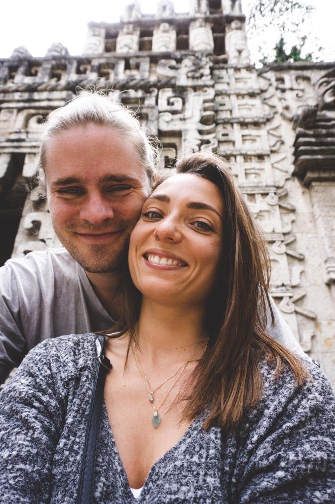 Couple at Museo Nacional de Antropologia in Mexico City