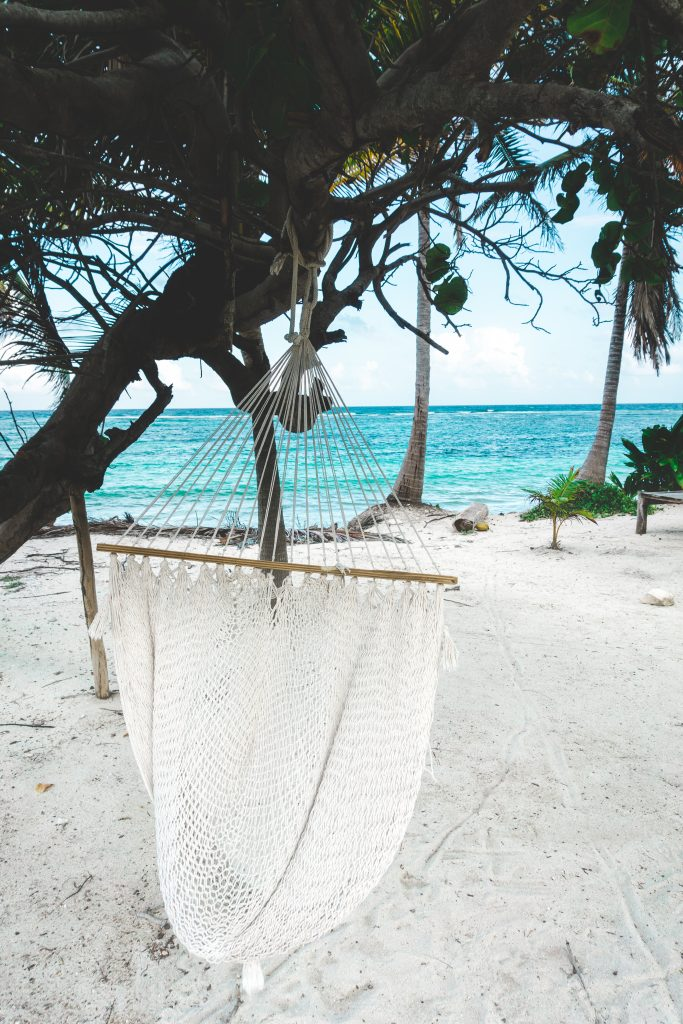 Yucatán off the beaten path, chilling on our balcony at Las Cabanas Ecoturisticas in Mahahual, look at the view...