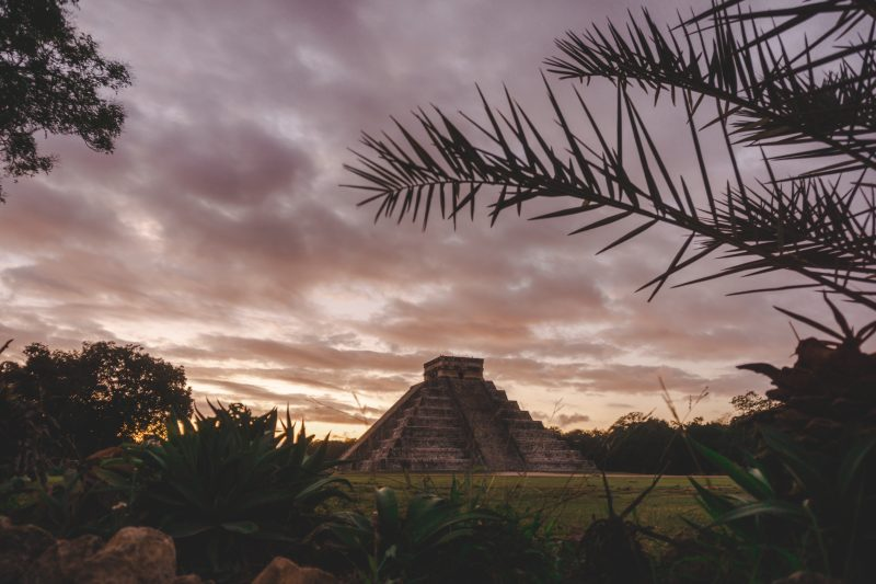 Yucatán off the beaten path, sunrise over the ruins of Chichen Itza