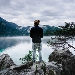Beginning of our hike around the Eibsee Lake. Discovering how stunningly beautiful this place is.