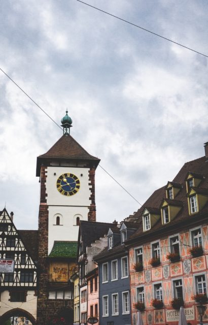 Schwabentor, one of Freiburg medieval gate that give such a charming vibe to the city center.