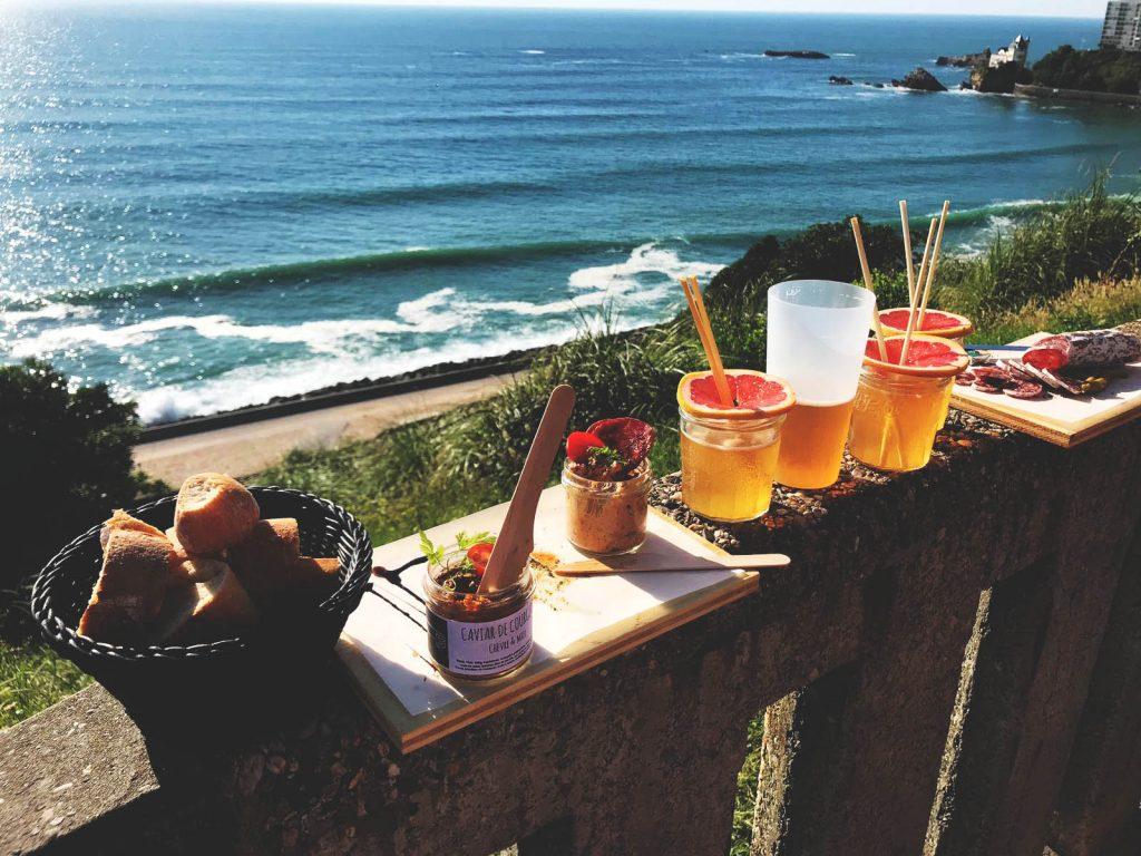 Ocean view at Etxola Bibi - Food gem southwest France - Biarritz - One Second Journal