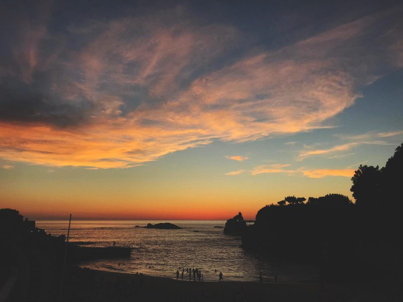 One Second Journal - About - Sunset Biarritz