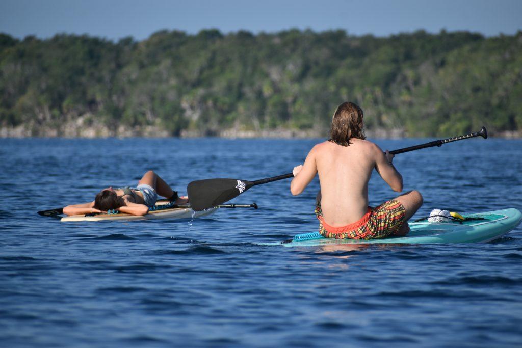 Moment de détente sur la lagune de Bacalar