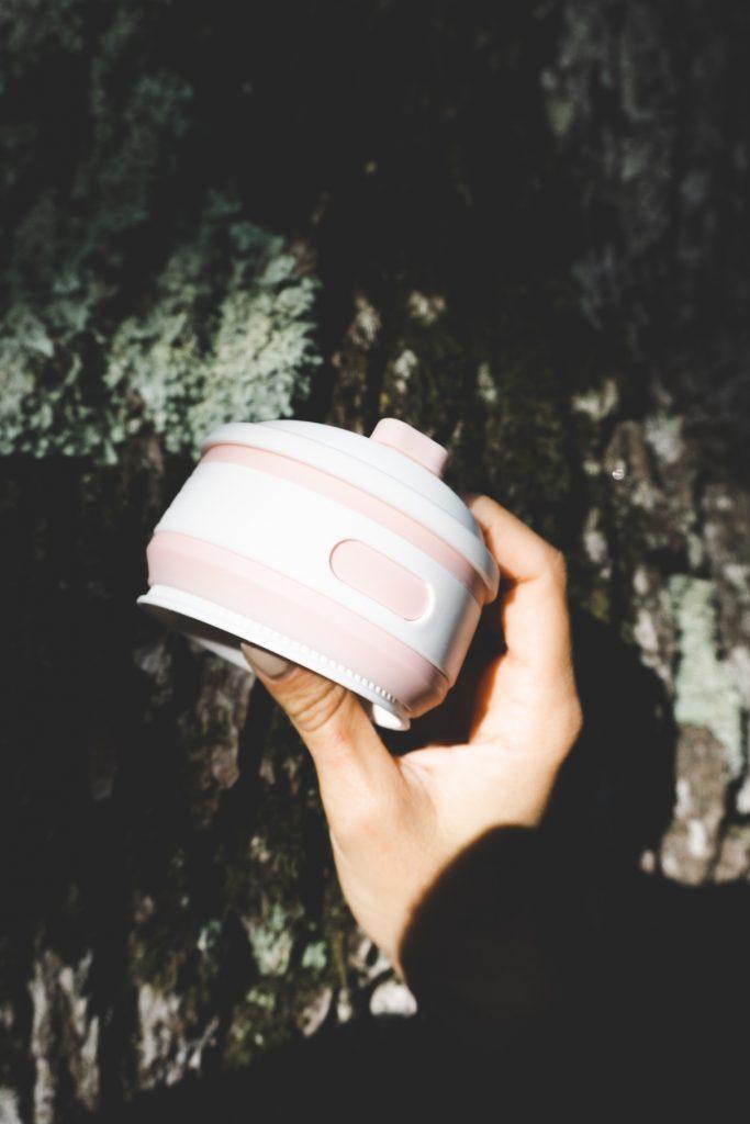 Mug réutilisable et pliable- cadeaux éco-responsables- pliée