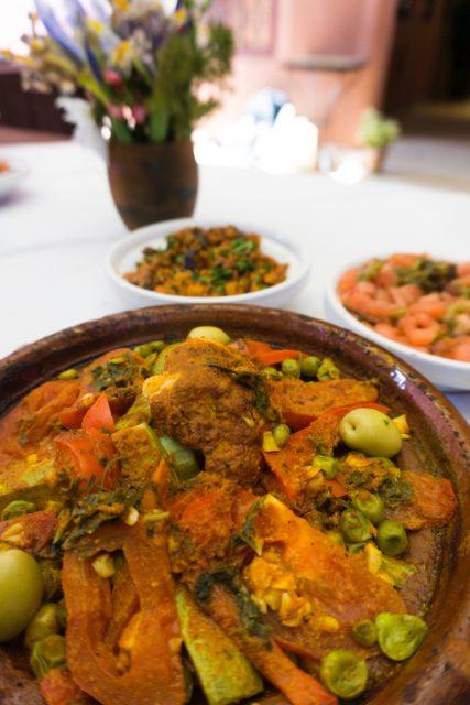 Vagetable tajine - Moroccan cooking class