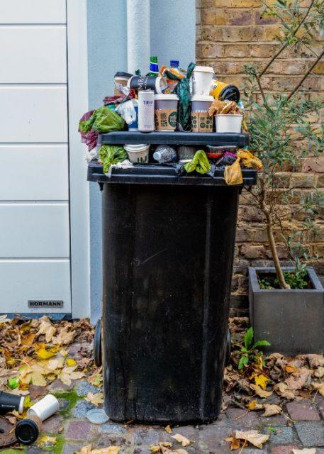 plastic-trash-bin-street