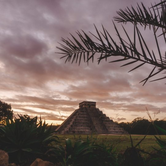 Yucatán off the beaten path, sunrise over the ruins of Chichen Itza