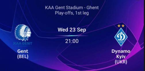 KAA Gent VS Dynamo Kiev2