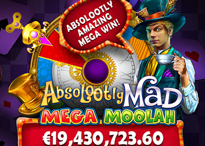 Absolootly Mad jackpot win record