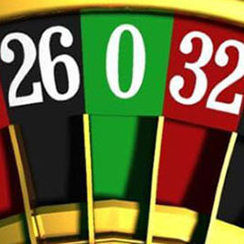 The zero square of casino Roulette
