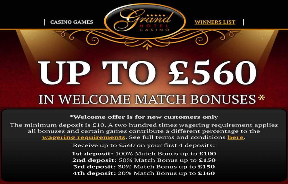 Grand Hotel Casino - A Website for London Players