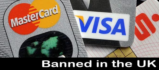Credit card casino betting ban in the UK