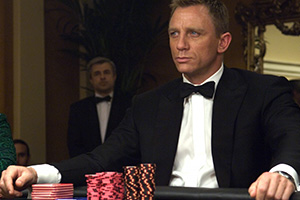 James Bond wins at the casino