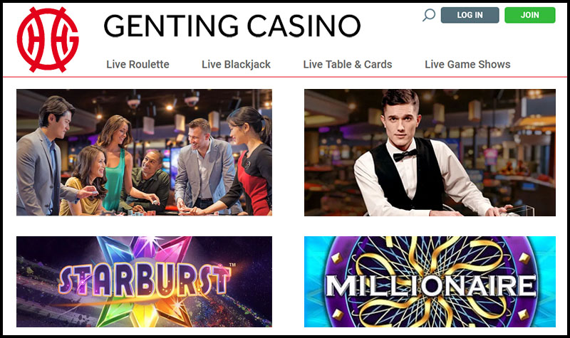 Genting Casino UK Site