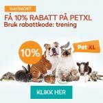 Annonse med link til nettbutikken Pet XL.