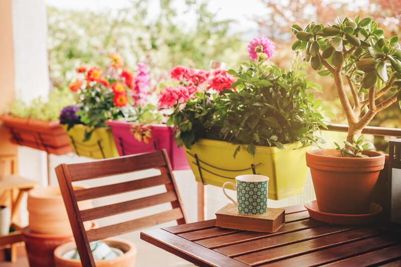 terras zomerklaar maken