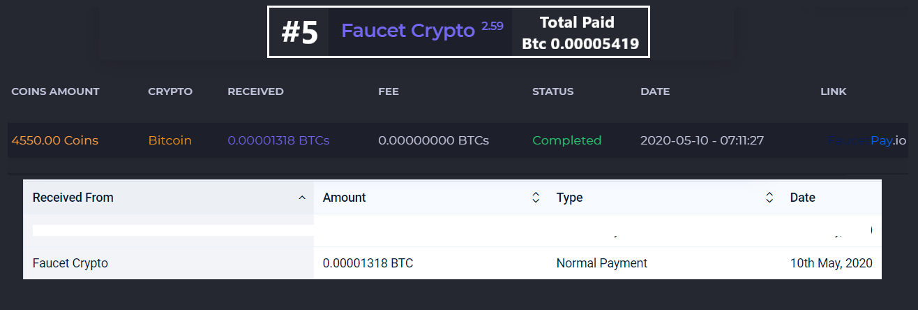 faucetcrypto payment