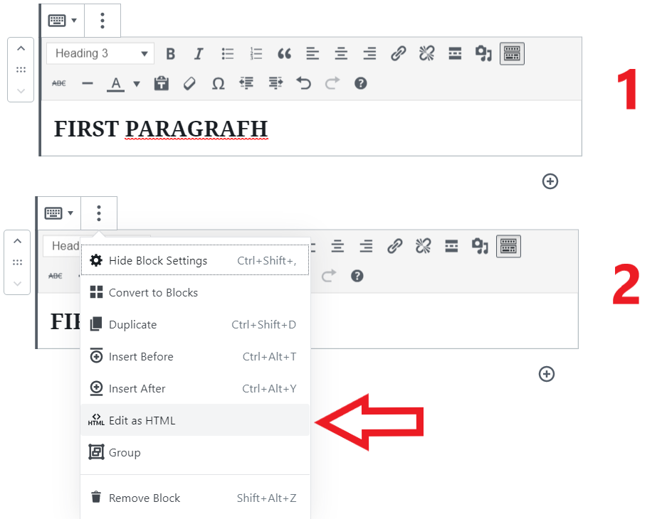 edit html wordpress
