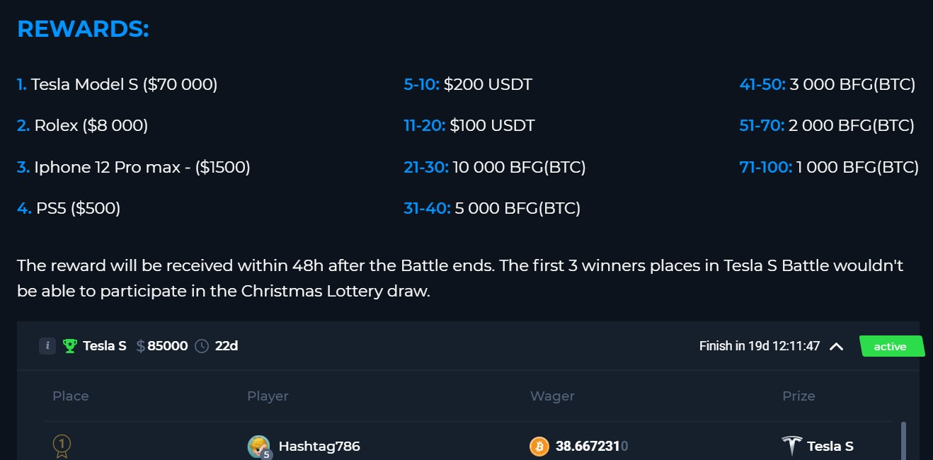 betfury competition