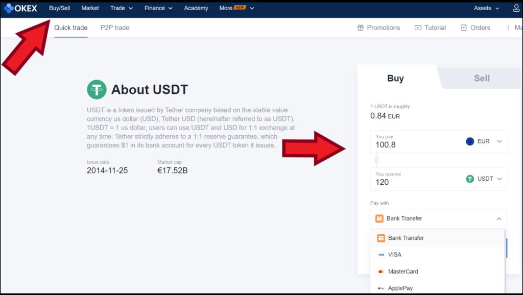 okex buy cryptocurrencies