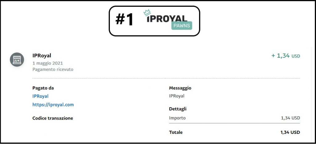 Iproyal payment