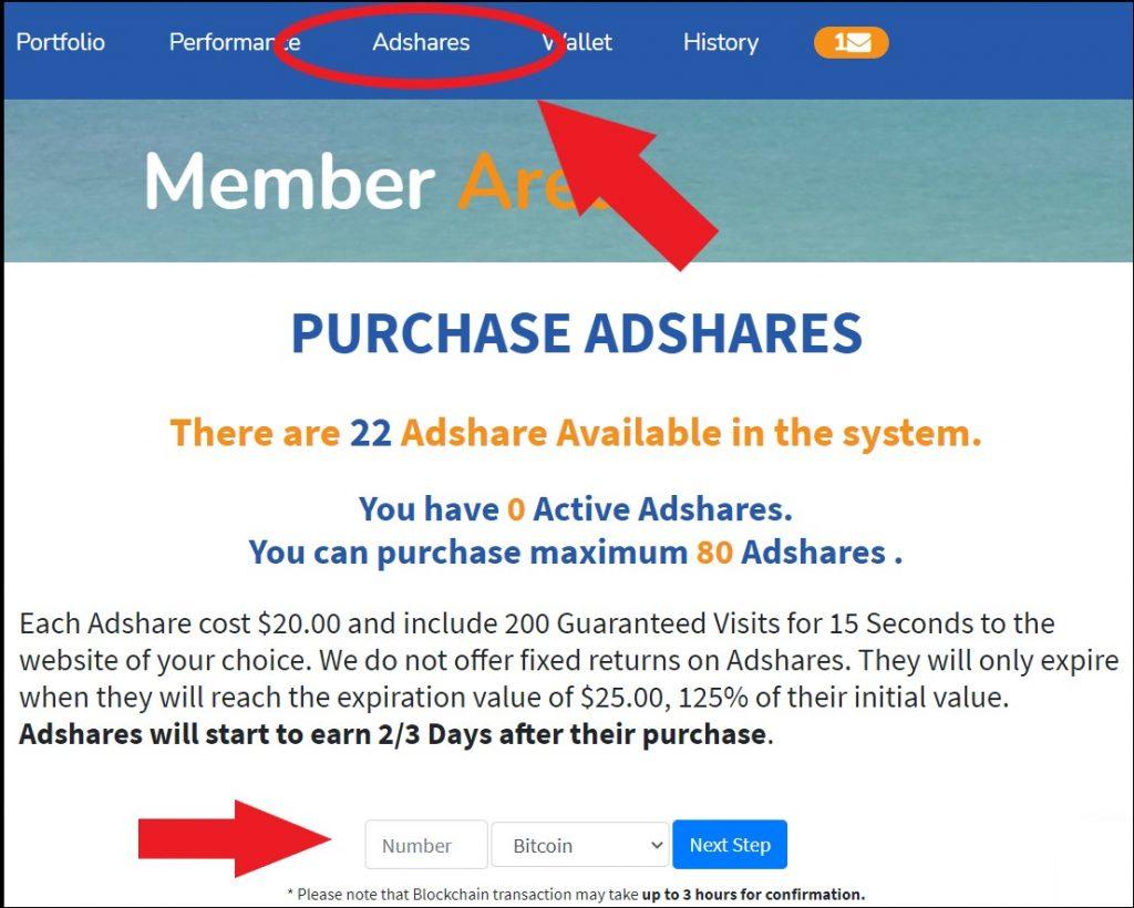 CrystalClearFund purchase adshares