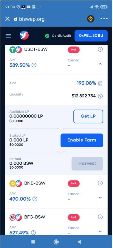 biswap add liquidity