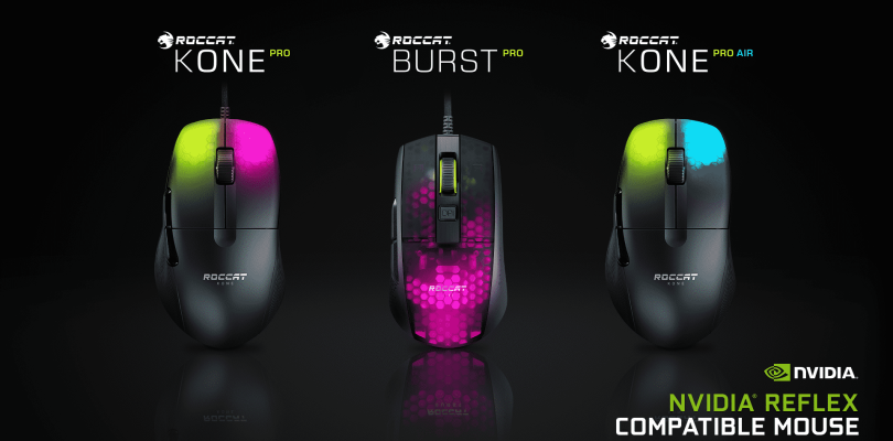 Roccat's Pro line of PC Gaming Mice support Nvidia's Reflex Latency Analyzer