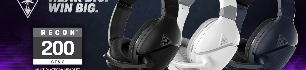 Turtle Beach's redesigned Recon 200 Gen Powered Multiplat Gaming Headset is now available at retailers