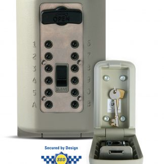 This C500 Police Accredited Outdoor Key Safe is the first in the UK with Police Preferred Accreditation and has undergone rigorous attack tests to achieve an independent security rating, LPS 1175 Level 1, demonstrating it provides the same security as a domestic front door. The LPS 1175 test was devised by a panel of experts, including: The Association of British Insurers The Association of Chief Police Officers The Home Office Please note to maintain the Police Accreditation the C500 must be installed into brick or dense concrete, not breeze block or mortar. When installed and used as intended, this key safe is covered by a 5 year guarantee against manufacturing faults. This key safe is supplied complete with a weather cover and 4 x wall tapping screws that do not require wall plugs. If installing yourself, you may need a T30 Screwdriver and 5mmx110mm Drill Bit. Features: You can change your code as many times as you want to maintain security It is constructed from Zinc Alloy making it attack resistant It is rust and water resistant and can be used in temperatures from - 32°C to 68°C Weight: 1,710g Key Safe Installation Service available on this website.