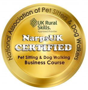 National association of pet sitters and dog walkers. Narps UK certified pet sitting and dog walking business course.