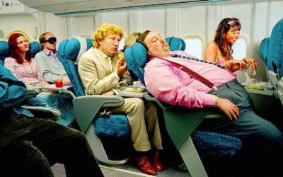 En forma en el avión