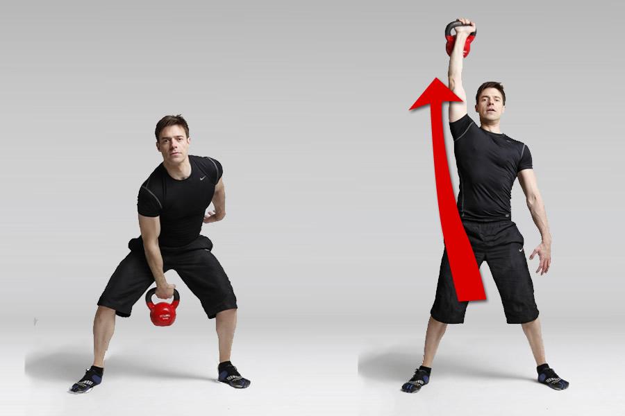 Tres ejercicios con kettlebell para perder la barriga