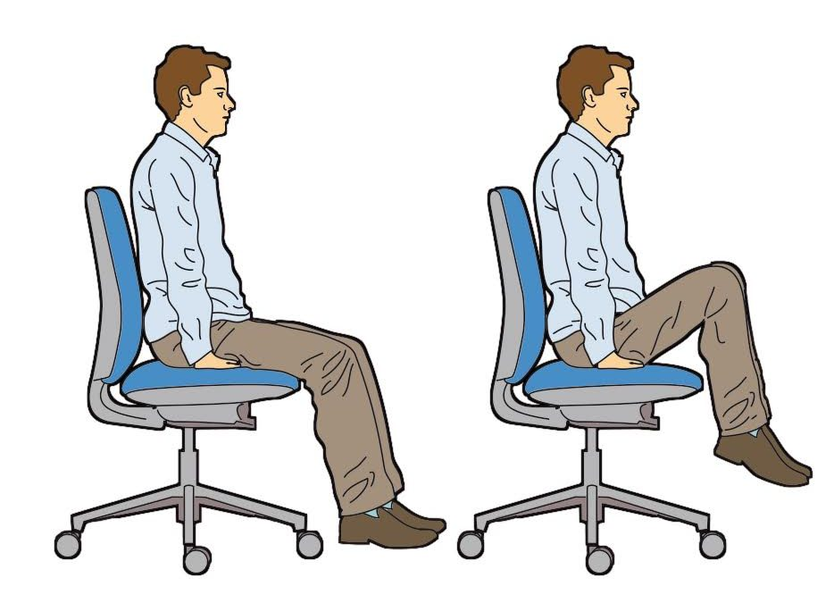 Entrenamiento con silla de la oficina