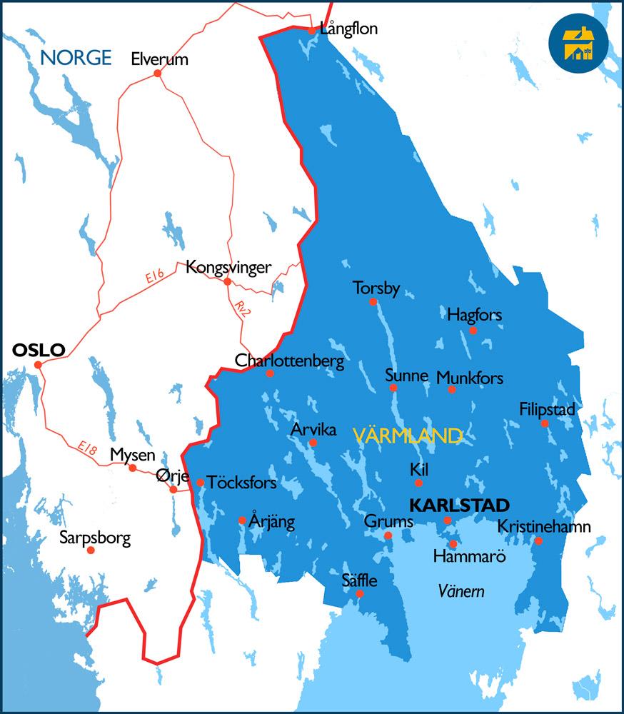 Hvor-er-Värmland-kart-reisevei-grense-fra-Norge