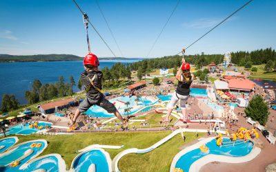 Temaparker, badeland og familieattraksjoner i Dalarna