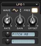 LFO1 Modulating Oscillator Pitch (Vibrato)