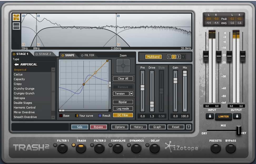Multiband Distortion with Izotope Trash 2