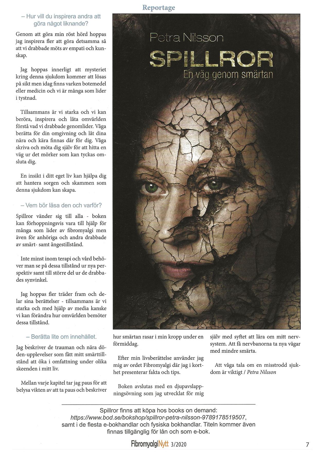 sida 1 intervju i FibroNytt