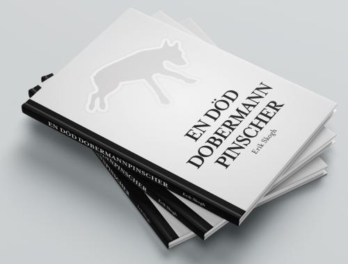 En död dobermannpinscher - 3 böcker på hög