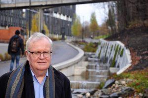 En stolt leder i Frognerelvens Venner, Øyvind Fjeld.