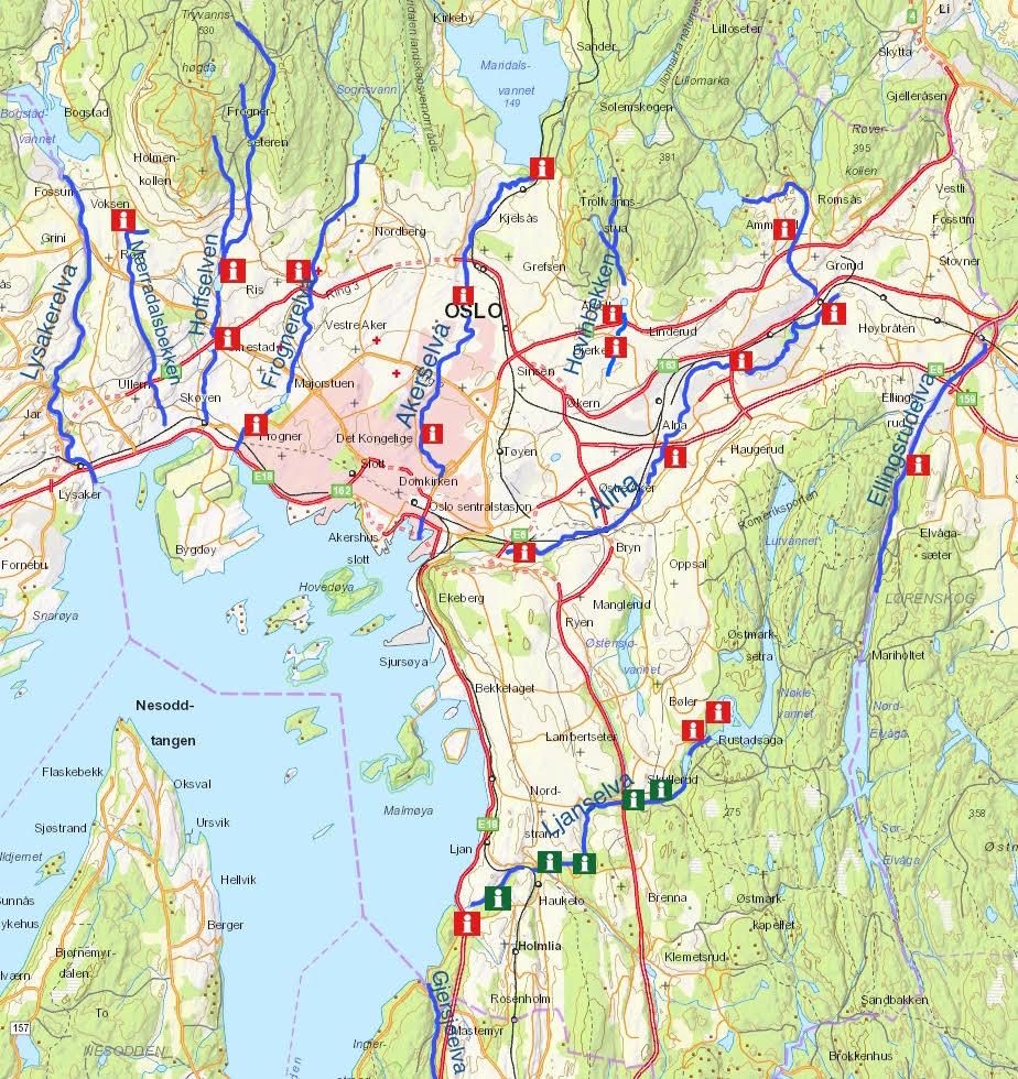 Har Satt Opp 18 Informasjonstavler Langs Elver Og Bekker Oslo