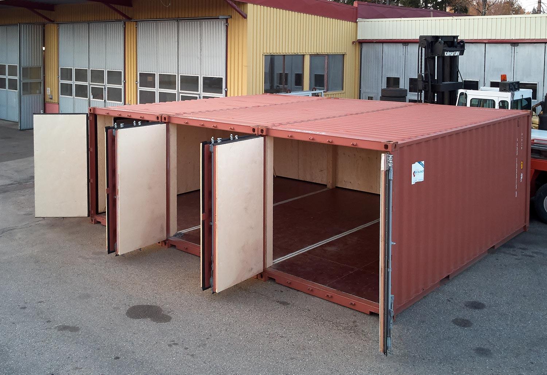 Anpassade och utrustade containers