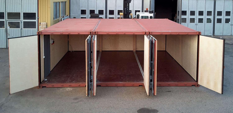Anpassade containers hyra köpa