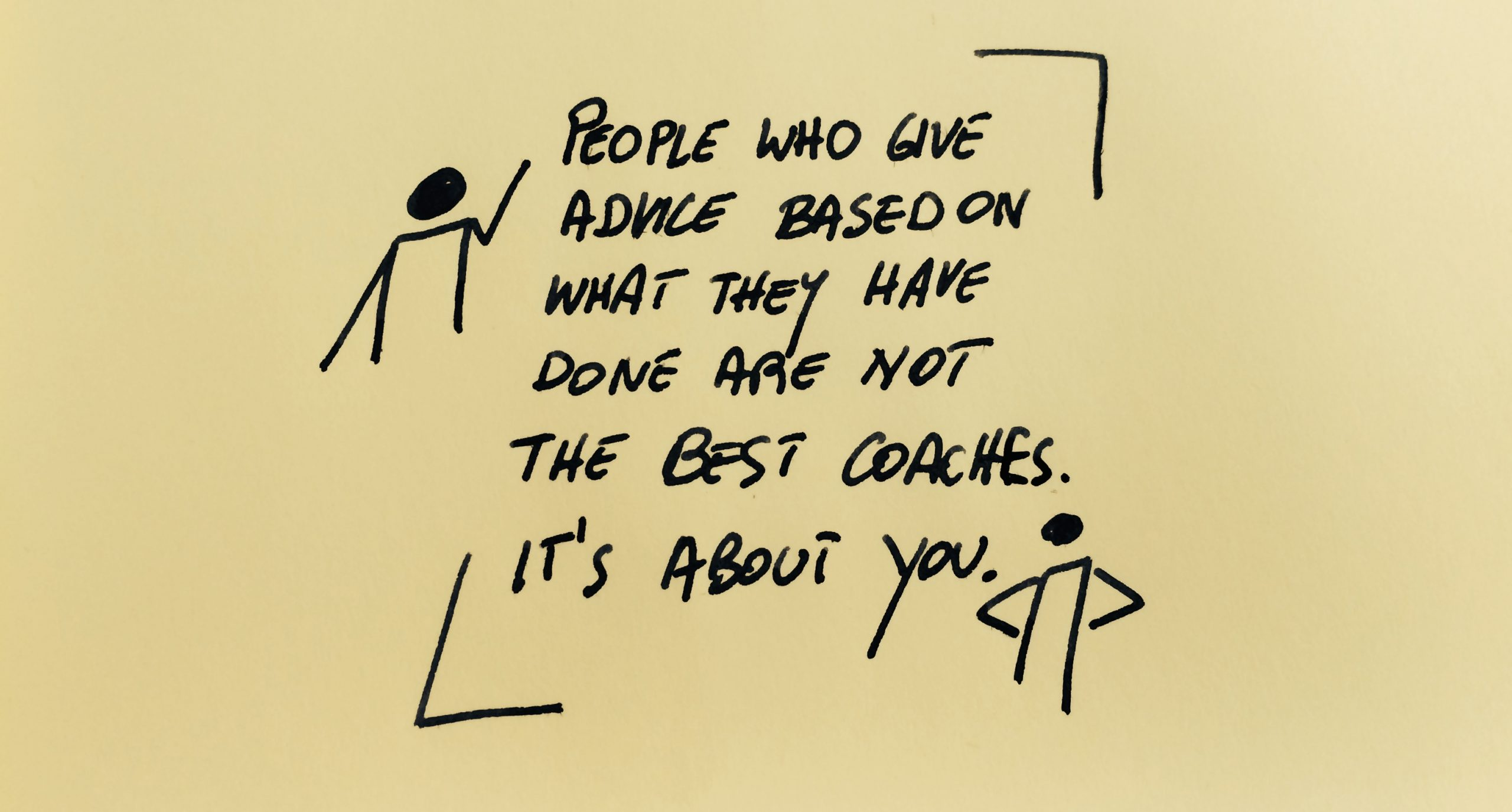 People who give Advice are not Coaches!