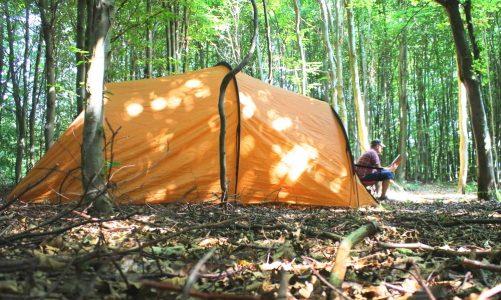 billig camping fri teltning Bornholm