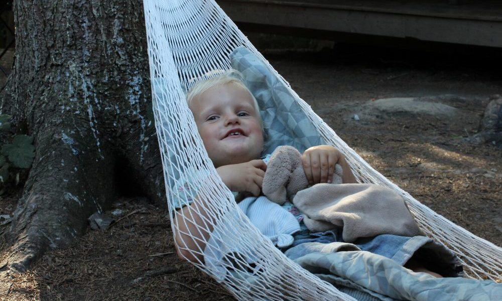 Overnatning i hængekøje outdoor