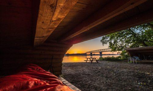 Shelter ved vandet Fyn havet