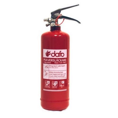 skumslukker brandslukker til bil 2 kg Dafo Core